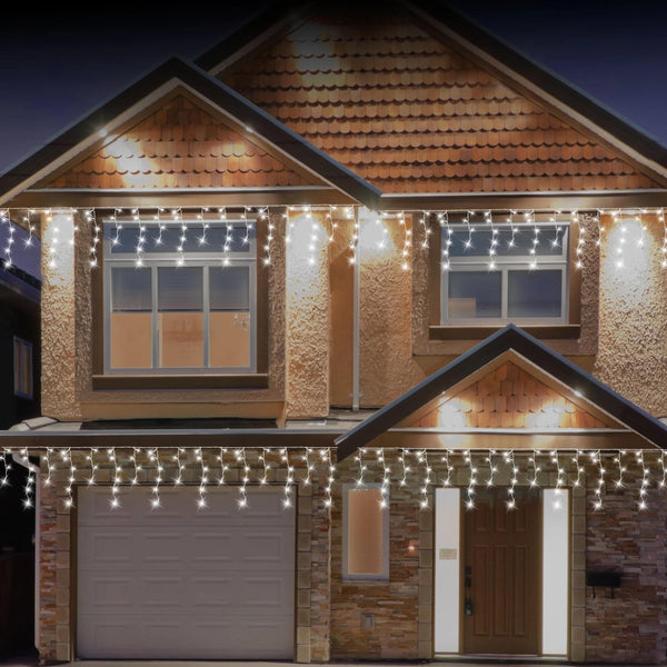 SOLAR LED ICICLES 200pc 3asst