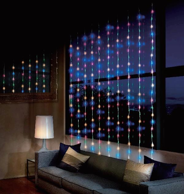 LED WATERFALL CURTAIN 2x2m MULTICOLOR