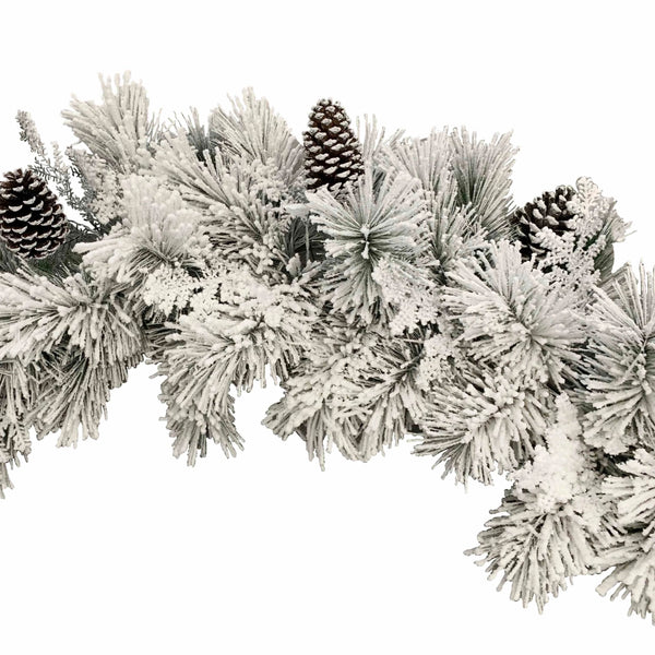 Flocked Snow Garland - 180cm