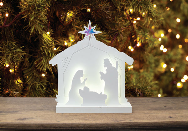 White Nativity Scene White 60cm in Size