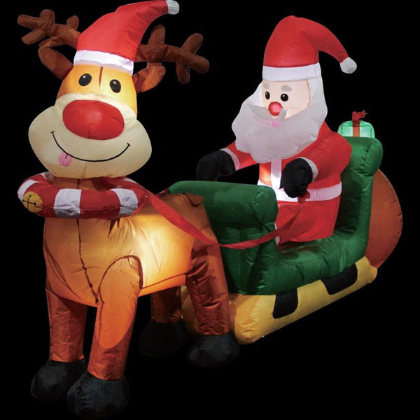 Airpower Santa Sleigh with Reindeer