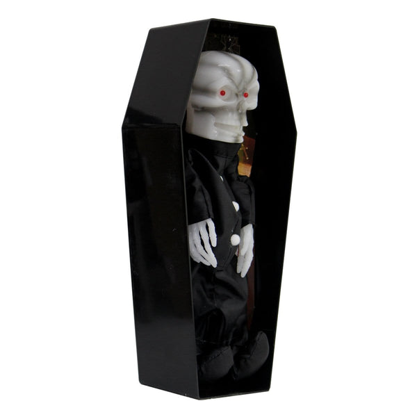 Halloween Coffin With Light-up Red Eye - Christmas World