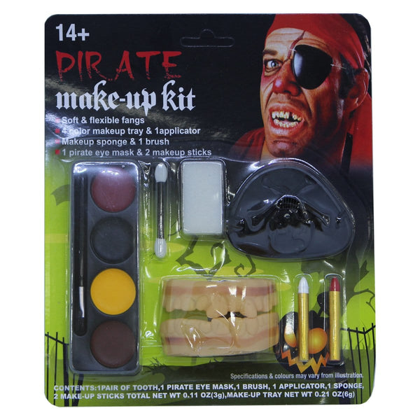 Halloween Pirate Makeup Kit - Christmas World