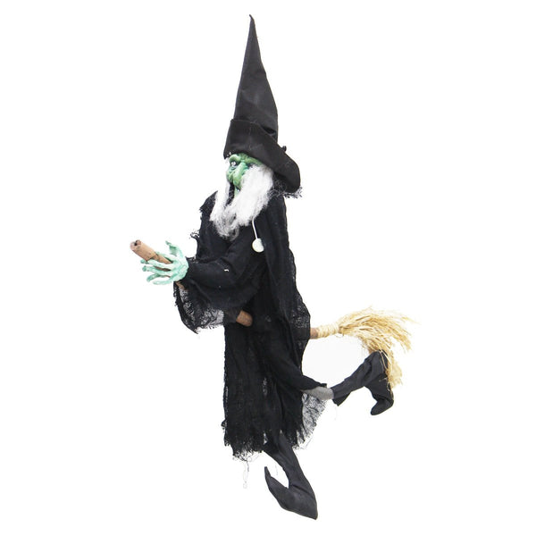 Halloween Hanging Witch Riding Broom - Christmas World