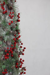 CONICAL TREE WITH BERRIES 87cm - Christmas World