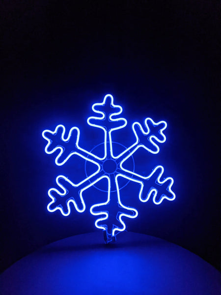 Snowflake Neon Blue Light 60cm x60cm