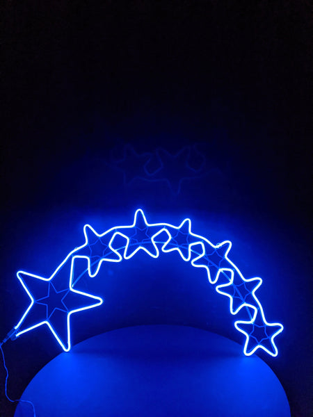 Seven Stars Neon Blue Light 100cm x 60cm