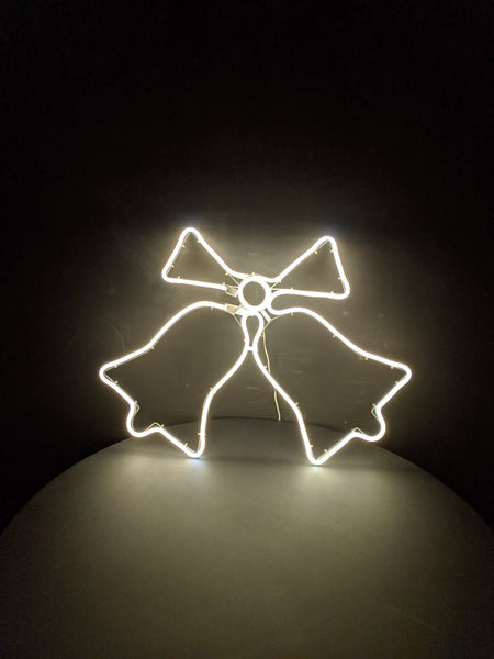 Jingle Bell Neon with Warm White Light 50cm x 65cm