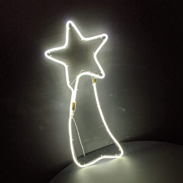 Star Comet Neon Warm White Light 65cm x 30cm