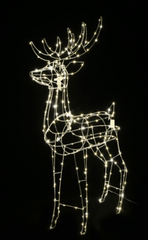 LED WIRE REINDEER STANDING FLASH - 110 CM TALL