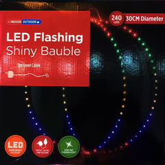 LED Flashing Shiny Bauble - Christmas World