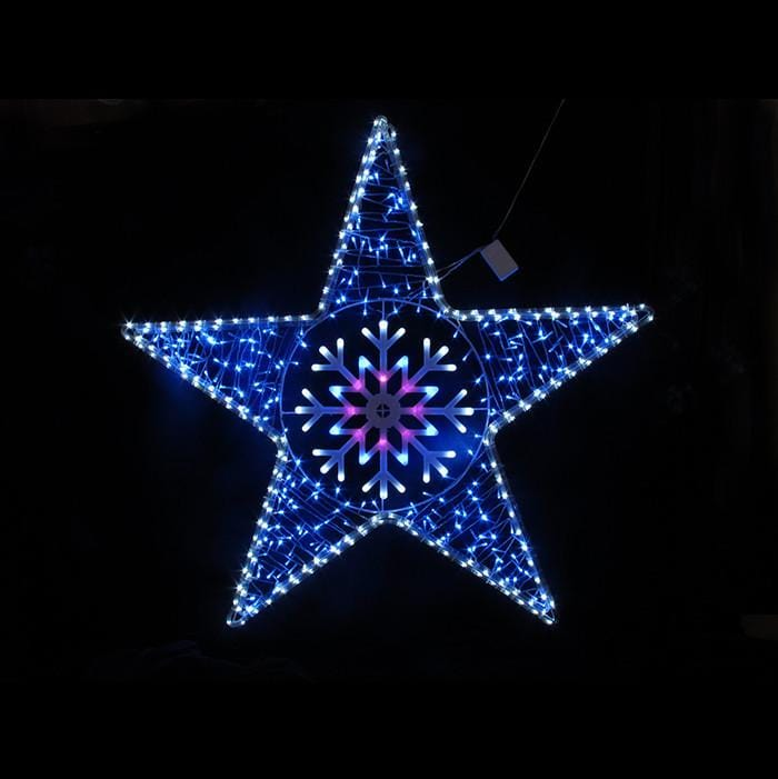 Led star rope light with snowflake silhouette christmas world next aloadofball Gallery