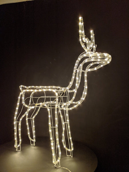 Standing Reindeer with Warm White Leds 90cm x 90cm x 30cm