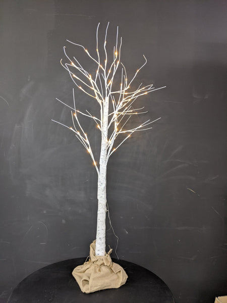 1.5m white Birch Tree w Warm White Leds