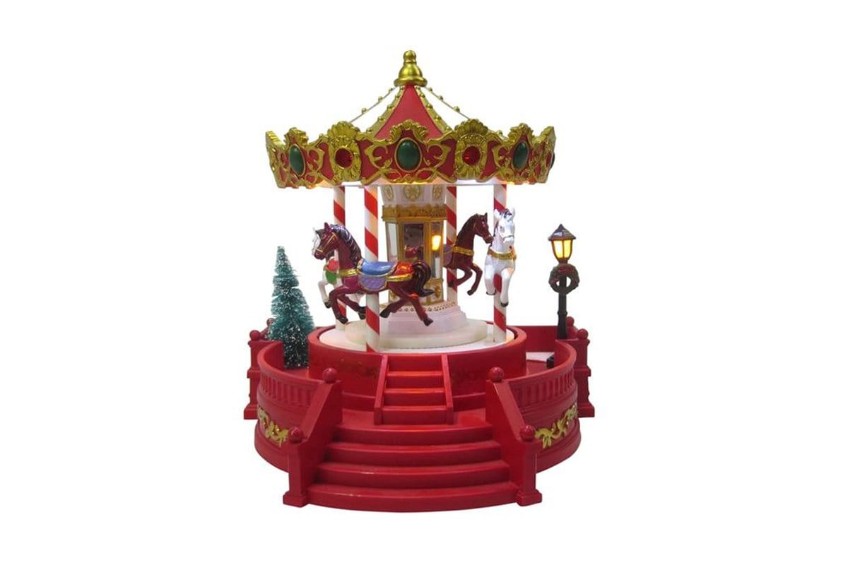 LED MUSICAL MERRY GO AROUND 23cm - Christmas World