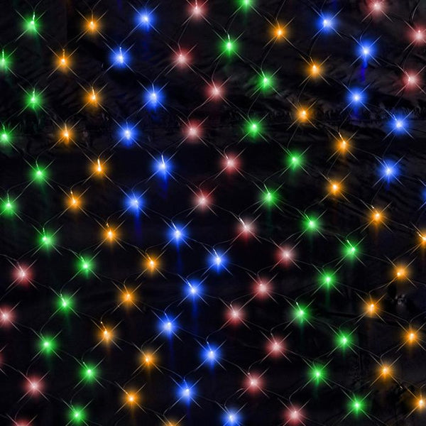320 LED Waterfall Net Lights - Multi Colour - Christmas World