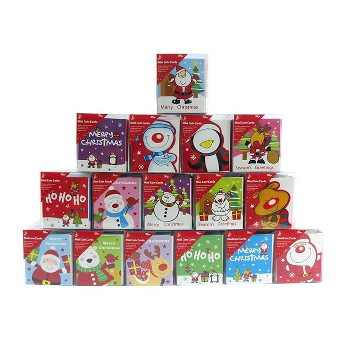Pack of 24 Mini Sequins Cards - Christmas World
