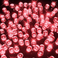 200 LED Fairy Lights - Red - 20 meters
