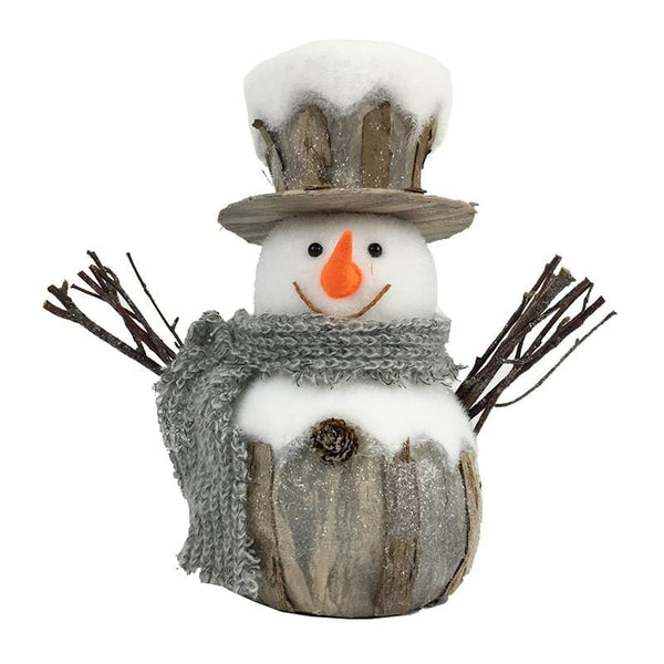 Vintage Snowman in Top Hat and Scarf - 24cm