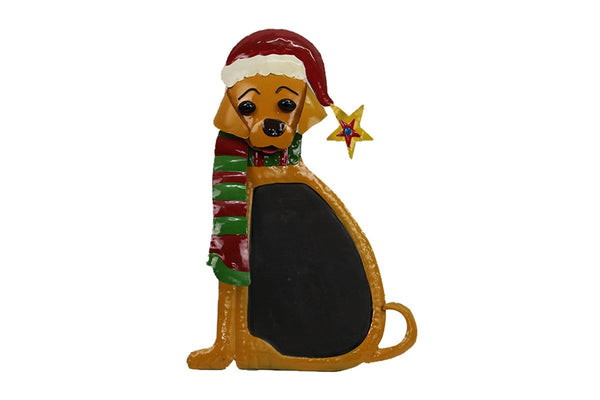 Metal Dog Decoration With Chalk Board