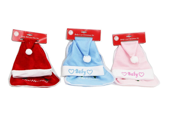 Baby Bib & Hat Set - Christmas World