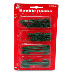 BAUBLE HOOKS WIRE GREEN 300 - Christmas World
