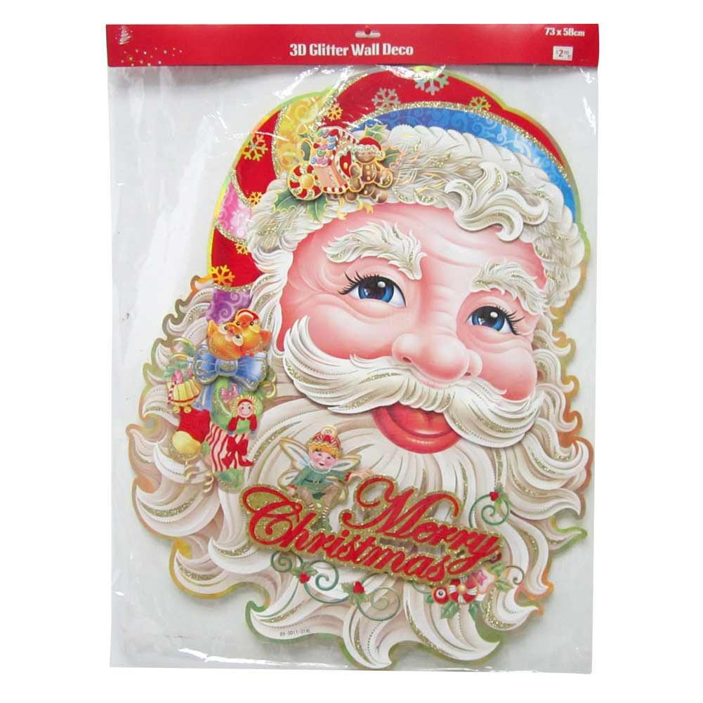 WALL DECORATION GLITT SANTA FACE 3D