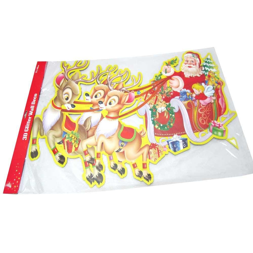 CHRISTMAS 3D PLAQUE SLEIGH W/DEERS - Christmas World