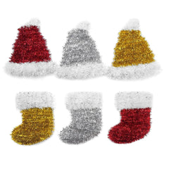 TINSEL SANTA HAT - Christmas World