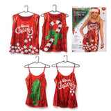CHRISTMAS SEQUINS SINGLET ADULT - Christmas World