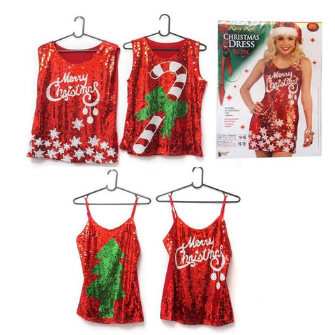 CHRISTMAS SEQUINS SINGLET ADULT