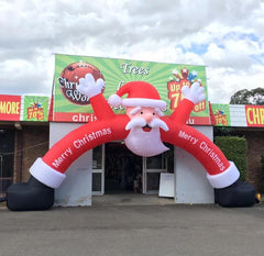 GIANT FAN BLOWN SANTA ARCH 8x5m
