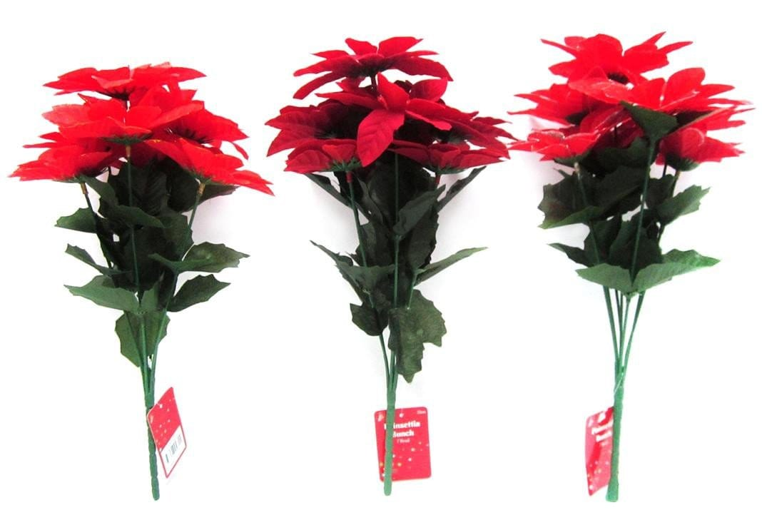 Poinsettia Bunch - Christmas World