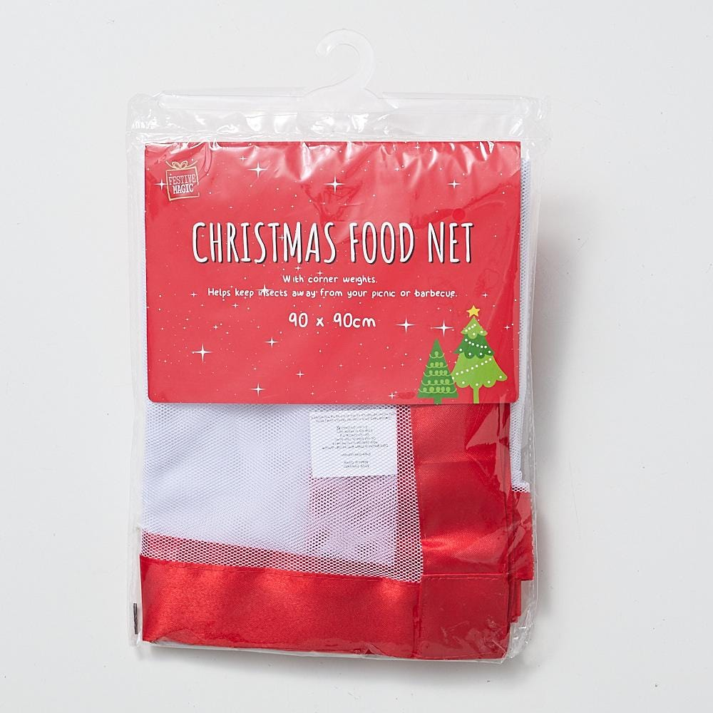 White Food Net with Red Trim