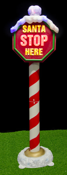 SANTA STOP HERE POLE 1.5m with 128LEDS