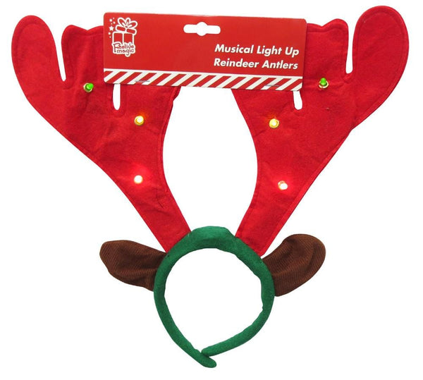 Reindeer Antlers 6 Multi LED - Christmas World
