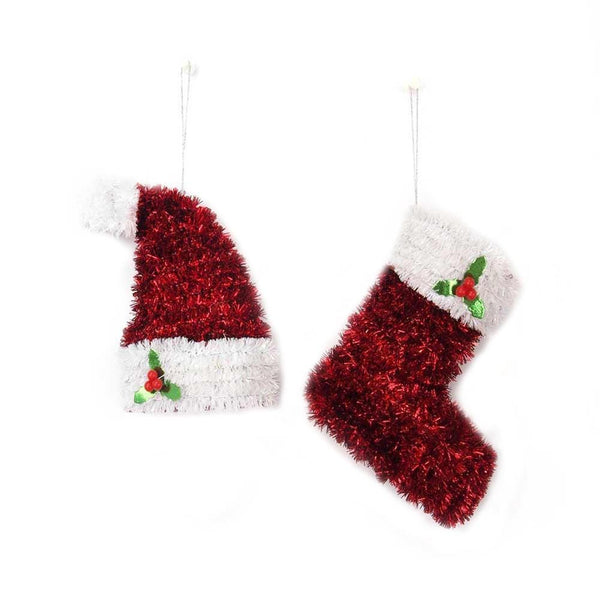 TINSEL BOOT DECORATION - Christmas World