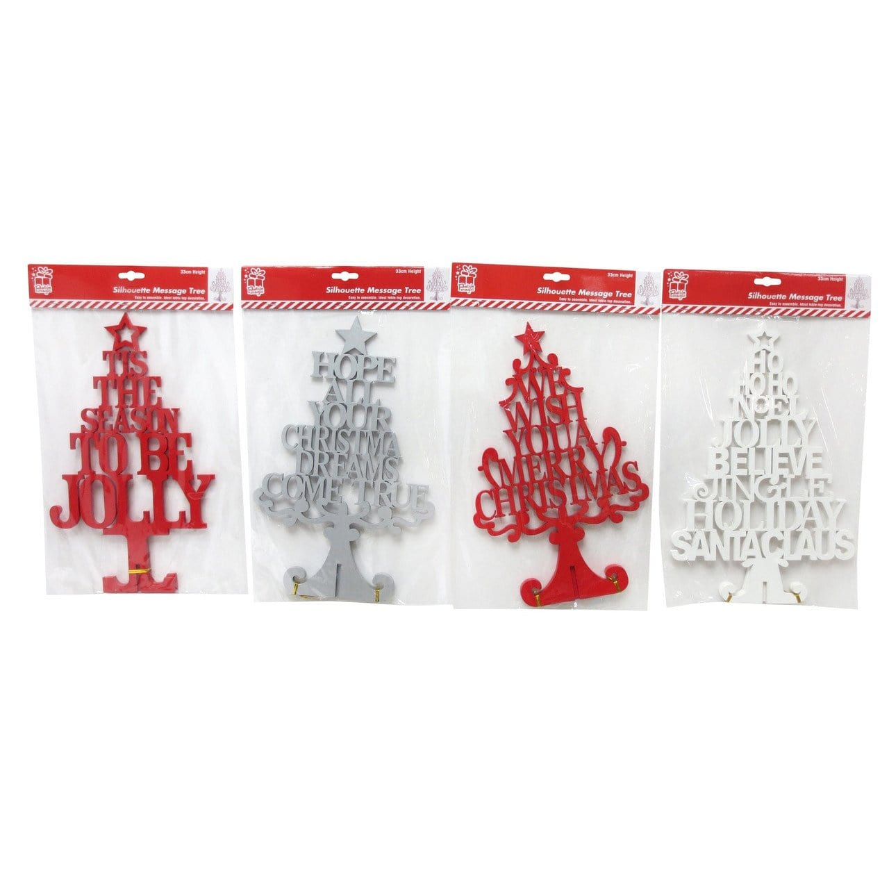 Silhouette Word Tree 33cm KD - Christmas World