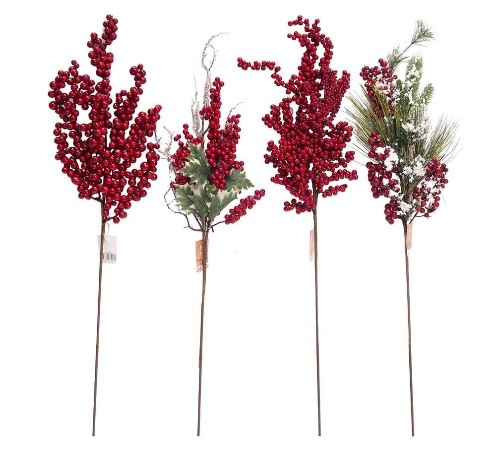CHUNKY BERRY SPRAY 66cm - Christmas World
