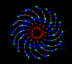 LED Spinner Light 128 LED - Multi - Christmas World