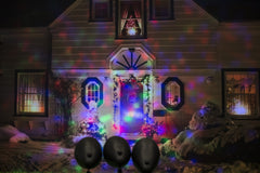 LED SPOTLIGHT 3pc 30cm SPINNING - Christmas World