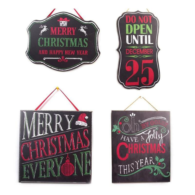 Vintage Christmas Blackboard Sign - Christmas World