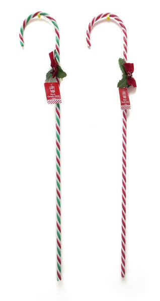 Christmas DECO CANDY CANE WITH BOW 75cm Height - Christmas World