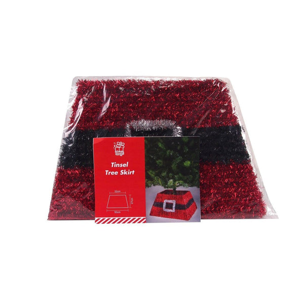 Xmas Tree Base Tinsel Santa Belt - Christmas World