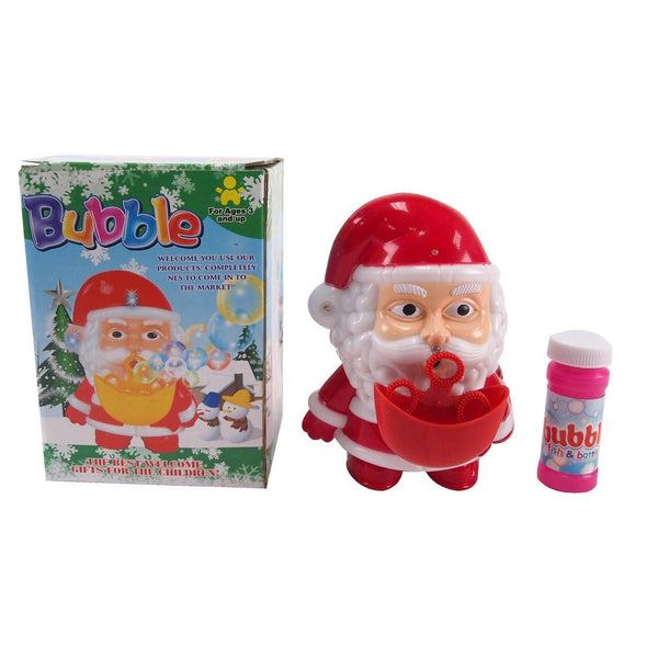 Santa Bubble Blower 17cm with LED's - Christmas World