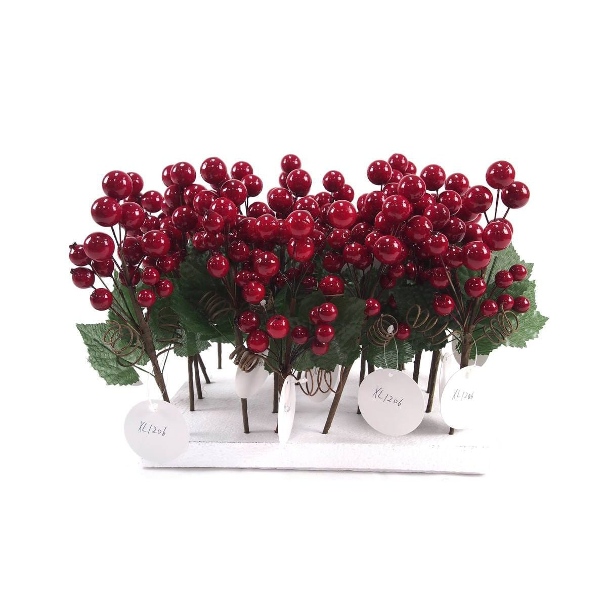 Gloss Berry Pick 20cm  Tray - Christmas World