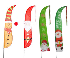 Christmas Printed Yard Flag 220cm - Christmas World