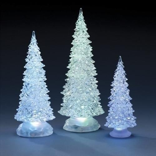 LED Crystal Tree 3pack with Colour Change - Christmas World