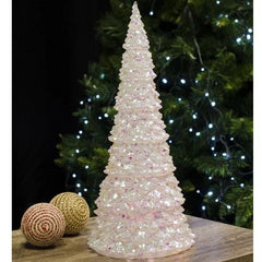 LED Glitter Tree 18 X 39cm - Christmas World