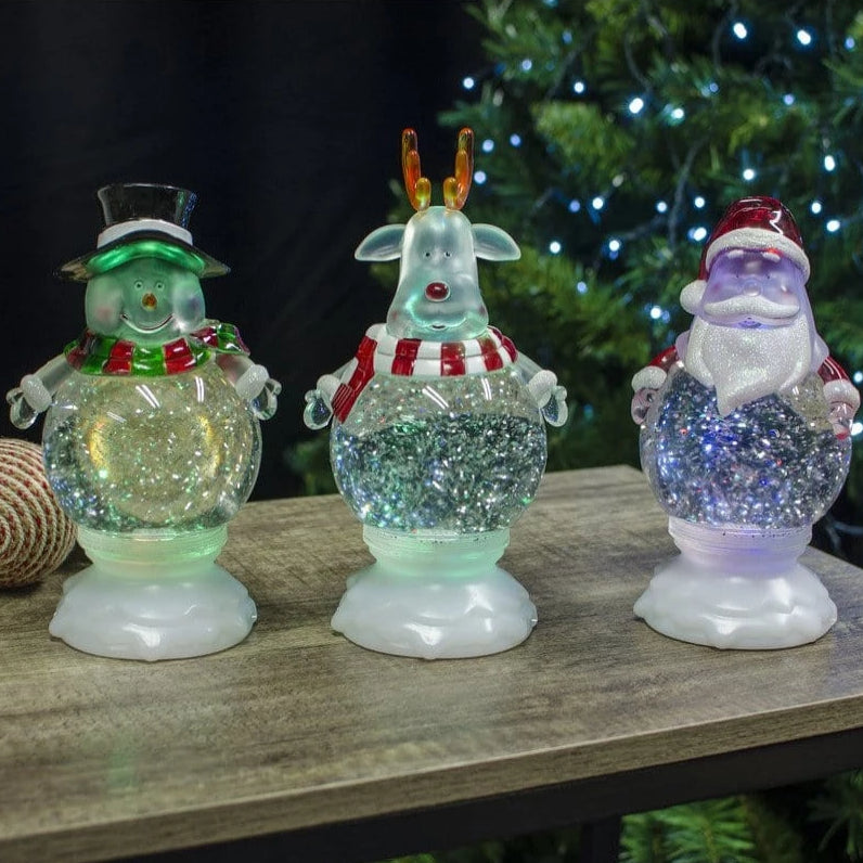 LED Swirling Glitter Character Large  Colors - Christmas World